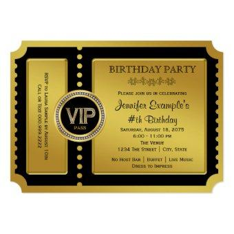 VIP Golden Ticket Birthday Party
