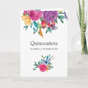 Watercolor Floral Fiesta Quinceañera Photo