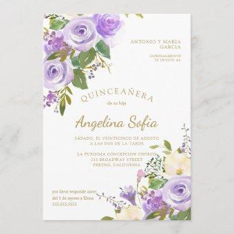 Watercolor Floral Gold Calligraphy