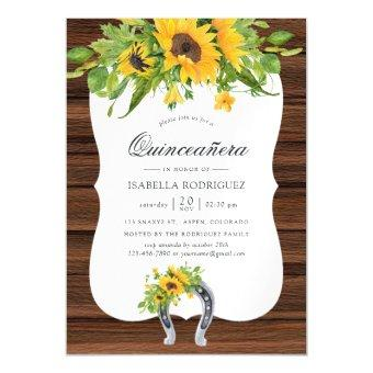 Watercolor Sunflower Rustic Western Quinceañera Magnetic