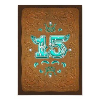 Western Rustic Brown & Turquoise FIFTEEN 15 Party