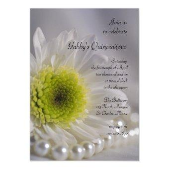 White Daisy and Pearl Quinceañera Party