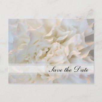 White Floral Quinceañera Save the Date Announcement Post