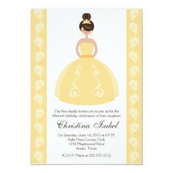 Yellow Dress Brunette