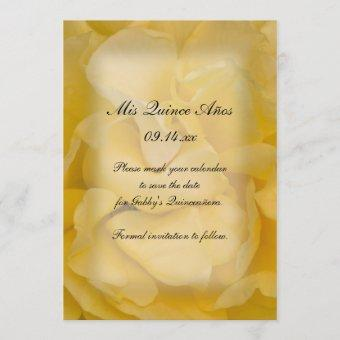 Yellow Rose Quinceañera Save the Date