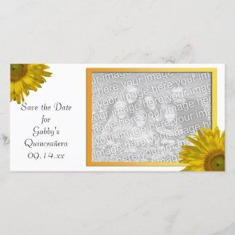 Yellow Sunflower Save the Date