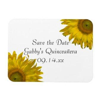Yellow Sunflower Save the Date Magnet